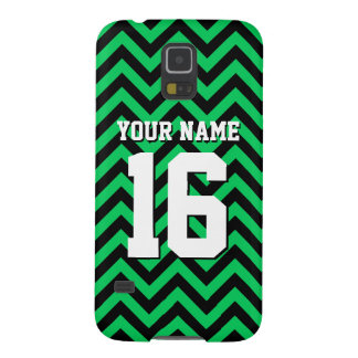 Emerald Green Black Chevron Sports Jersey Case For Galaxy S5