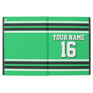 Emerald Green Black Team Jersey Custom Number Name