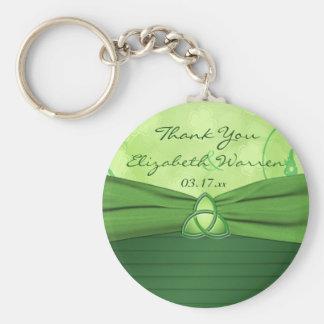 Emerald Green Celtic Love Knot Wedding Favor Keychain