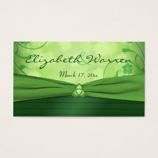 Emerald Green Celtic Love Knot Wedding Favor Tag