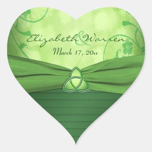 Emerald Green Celtic Love knot Wedding Sticker