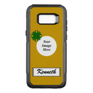 Emerald Green Clover Rbn Tmpl by Kenneth Yoncich OtterBox Commuter Samsung Galaxy S8+ Case