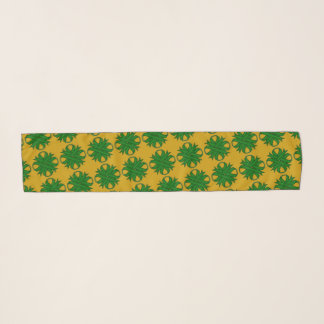 Emerald Green Clover Ribbon by Kenneth Yoncich Scarf