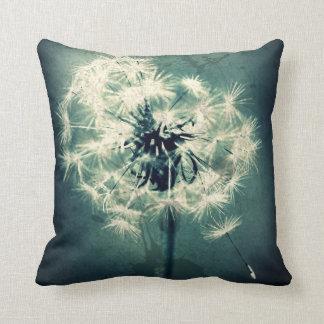 Emerald Green Daisy Throw Pillow