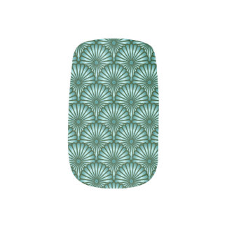 Emerald Green Egyptian Palm Fern Tree Nail Stickers