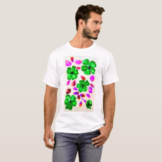 Emerald Green Flowers by DelynnAddams T-Shirt