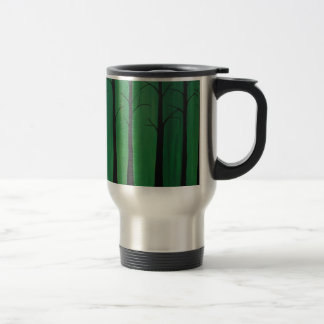 Emerald Green Forest Travel Mug