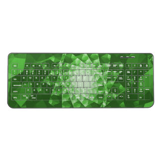 Emerald Green Fractal shape Wireless Keyboard