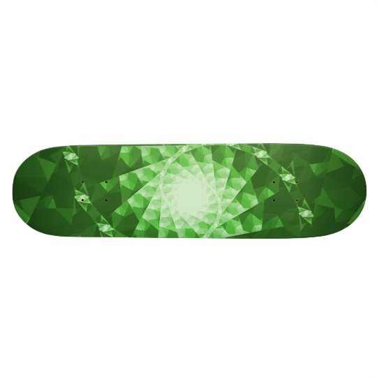 Emerald Green Fractal Skate deck