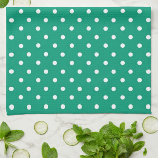 Emerald Green Heart With Name Kitchen Towel