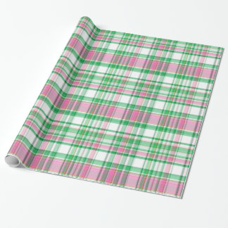 Emerald Green, Hot Pink, White Preppy Madras Plaid