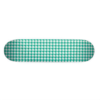 Emerald Green Houndstooth Skate Board