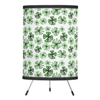 Emerald-Green Lucky Shamrock Clover Lamp