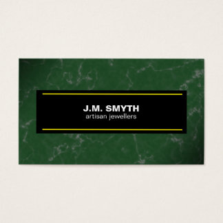 Emerald Green Marble Business Card