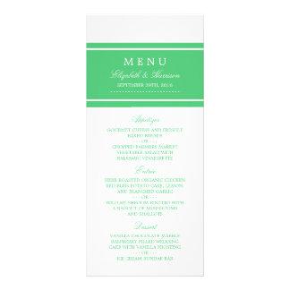 Emerald Green Modern Wedding Menu