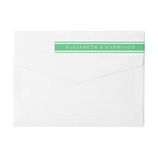 Emerald Green Modern Wedding Wraparound Return Address Label