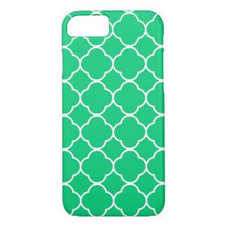 Emerald Green Moroccan Quatrefoil iPhone 7 Case