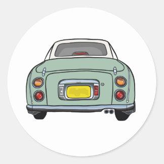 Emerald Green Nissan Figaro Car Sticker