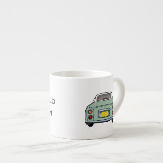 Emerald Green Nissan Figaro customised cup
