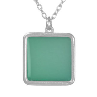 Emerald Green Plain Single Colour Product Item Silver Plated Necklace