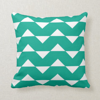 Emerald Green Sparre Pattern Throw Pillow