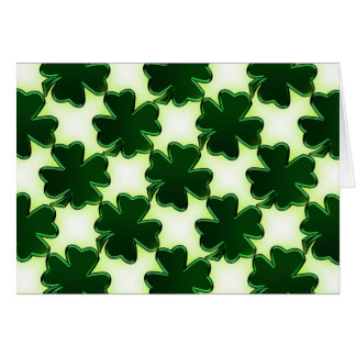 Emerald Green St. Patrick's Day Shamrocks Note Card