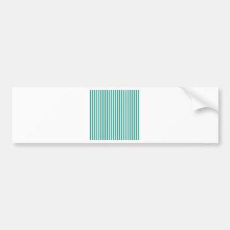 Emerald Green Striped Comtemporary Decorative Art Bumper Sticker