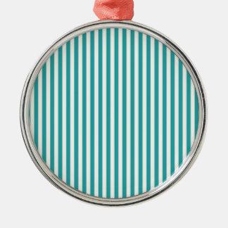 Emerald Green Striped Comtemporary Decorative Art Metal Ornament