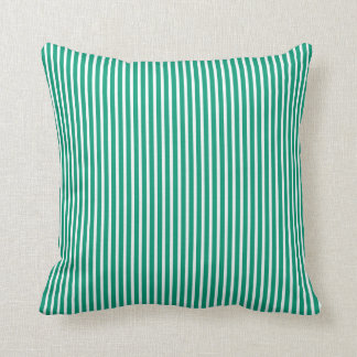 Emerald Green Striped Decorative Pillows