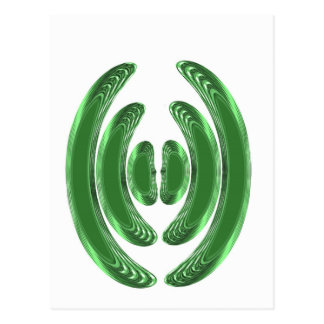 Emerald Green WAVES KISSES BANGLES COSTUME Post Cards