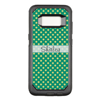 Emerald Green with Yellow Polka Dots by STaylor OtterBox Commuter Samsung Galaxy S8 Case