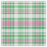 Emerald Grn Hot Pink Wht Preppy Madras Plaid Sz6#1 Fabric