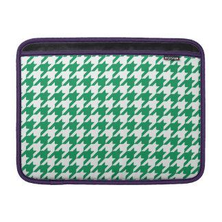 Emerald Houndstooth 1 MacBook Air Sleeve