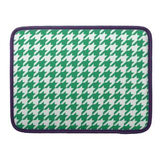 Emerald Houndstooth 1 MacBook Pro Sleeve