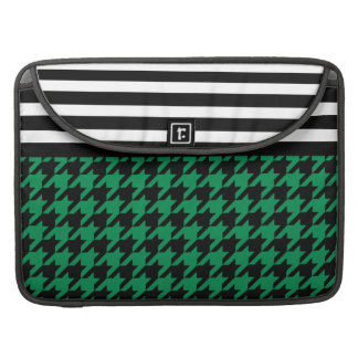 Emerald Houndstooth w/ Stripes 2 Sleeves For MacBook Pro