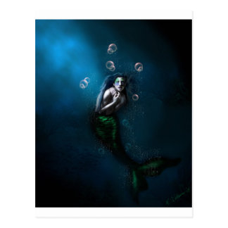 Emerald in the Deep Blue Postcard