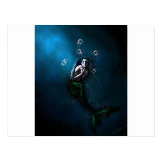 Emerald in the Deep Blue Postcard