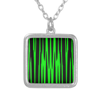 EMERALD ISLE (an abstract art design) ~ Square Pendant Necklace