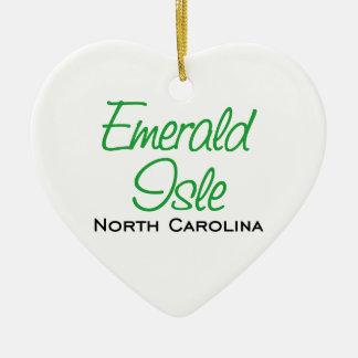 Emerald Isle, NC Ceramic Ornament