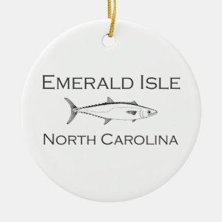 Emerald Isle North Carolina Ceramic Ornament