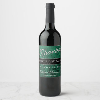 Emerald Jade Shamrock Green Gothic Jewel Tone Wine Label