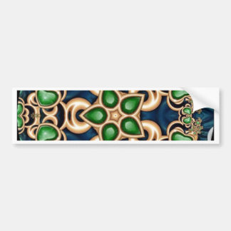 Emerald Jewels Kaleidoscope Bumper Sticker