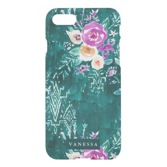 Emerald Lavish Watercolor Floral CUSTOMIZABLE iPhone 8/7 Case