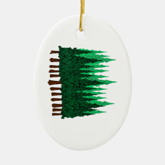 Emerald Love Ceramic Ornament