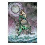 Emerald Mermaid Fantasy Art Card