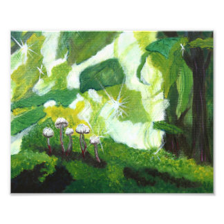 Emerald Mushrooms Photo Print