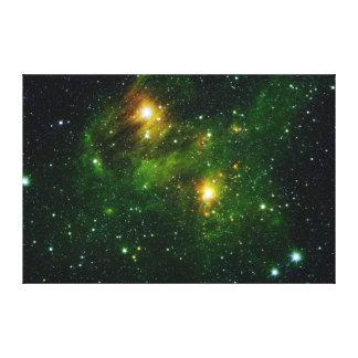 Emerald Nebula Canvas Print