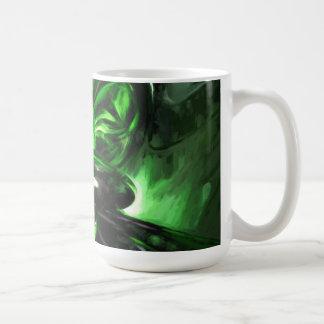 Emerald Nigthmares Pastel Abstract Coffee Mug