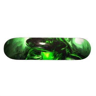Emerald Nigthmares Pastel Abstract Skate Decks
