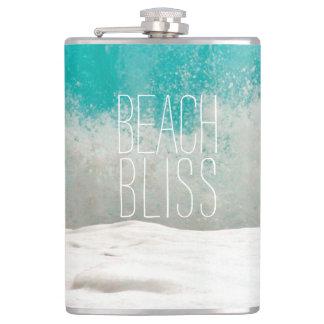 Emerald Ocean Crashing Waves - Beach Bliss Flasks